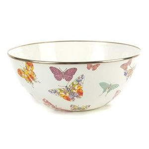 Mackenzie Childs Large Butterfly Serving Bowl NEW